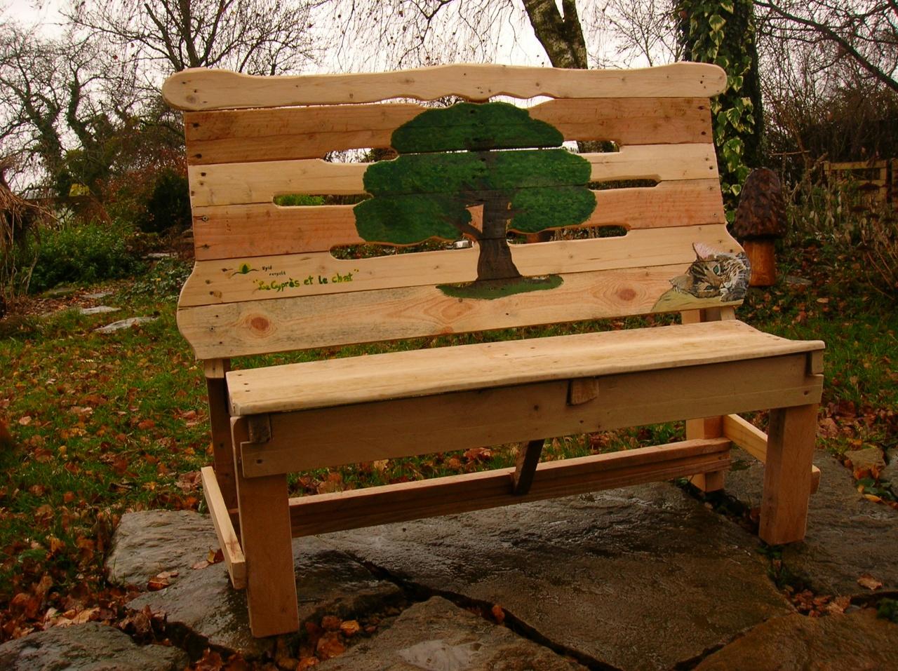 Hyl recycl cr ations en bois de palettes for Recyclage de palettes en bois