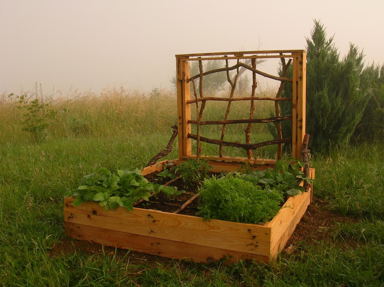 Fabriquer Potager Carré En Bois potager en carré, palettes recyclées, traitement naturel