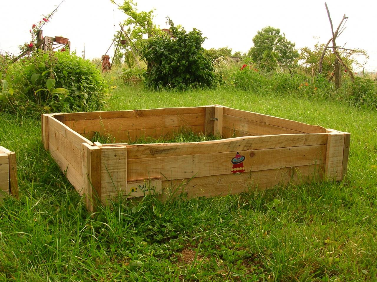 Fabriquer Potager Carré En Bois carré potager en palette